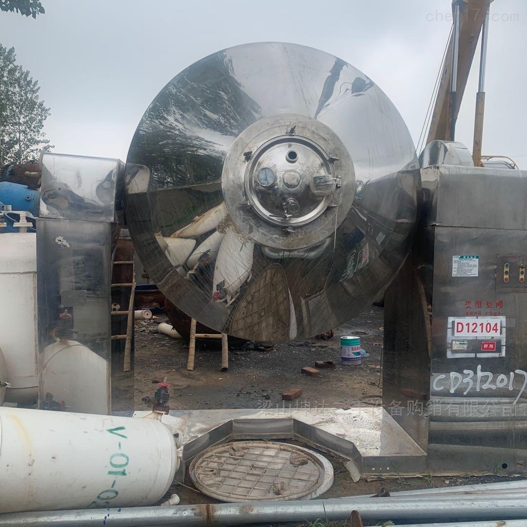 二手2000L不锈钢双锥回转干燥机