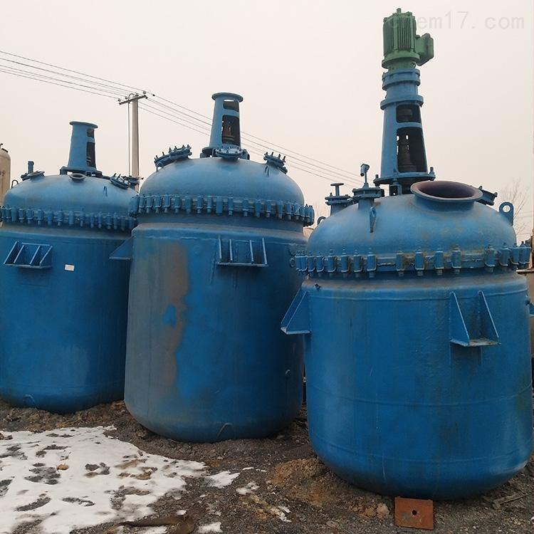 闲置出售二手3吨搪瓷反应釜