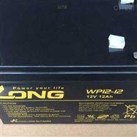 12V12AHLONG广隆蓄电池WP12-12现货