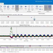 高性能运输监测振动冲击记录仪分析软件