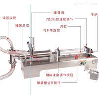 厂家供应果蔬汁半自动小型液体灌装机500ml