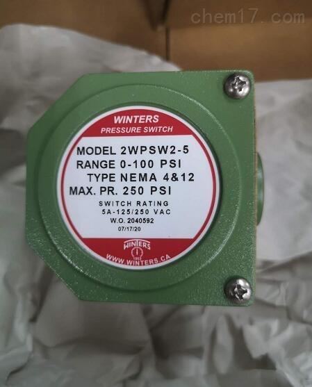 加拿大WINTERS压力开关2WPS-W-2-5