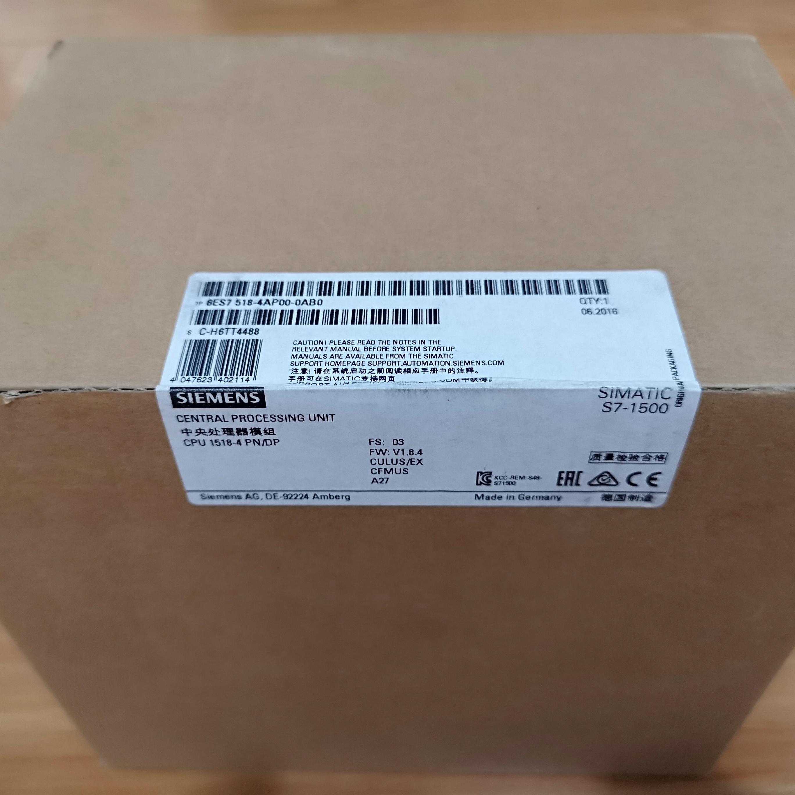 清远西门子S7-1500CPU模块代理商