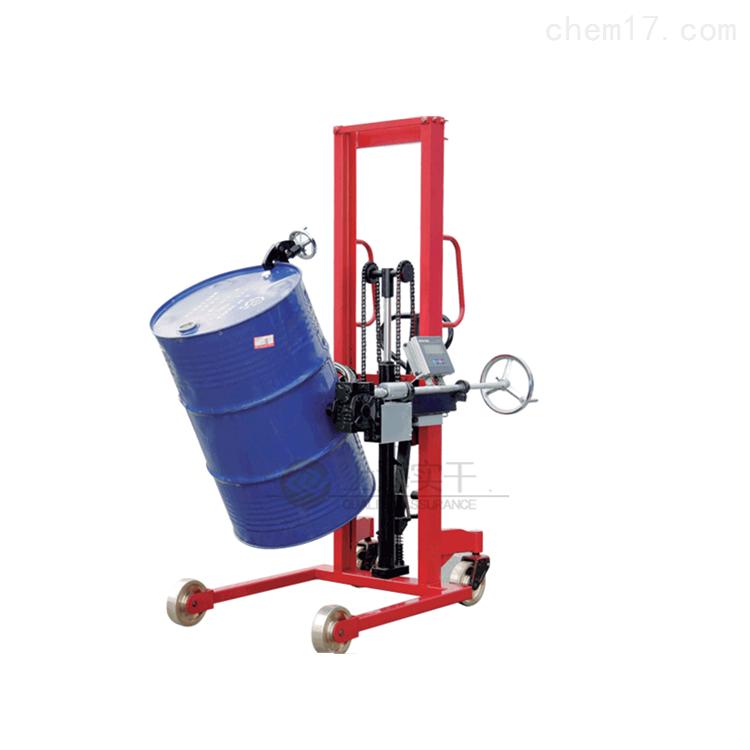 油桶搬运倒桶电子秤,电动防爆倒料车秤