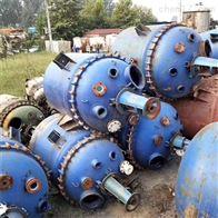 大量闲置5吨二手化工厂搪瓷反应釜
