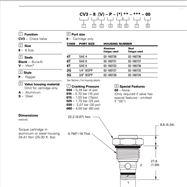 VICKERS威格士螺紋插裝單向閥cv11-16-P-0-5