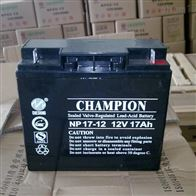12V17AH冠军蓄电池NP17-12区域代理选购