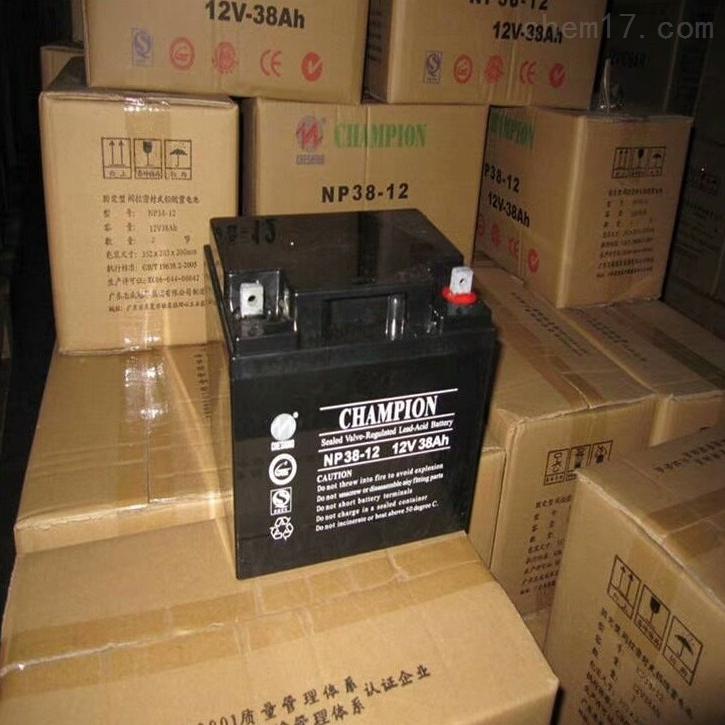 冠军蓄电池NP38-12区域代理