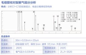 毛细管柱对裂解气组分分析