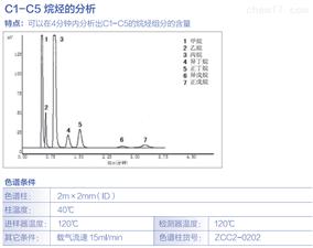 C1-C5烷烃的分析