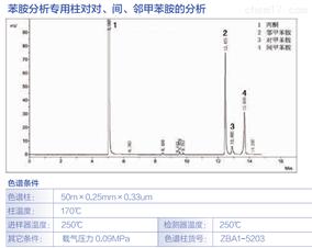 苯胺分析柱对对、间、邻甲苯胺的分析