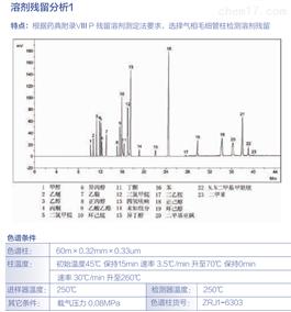 溶剂残留分析