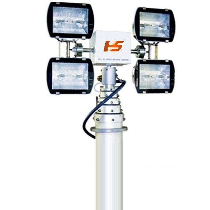 河圣牌 气动升降杆照明装置4个灯头