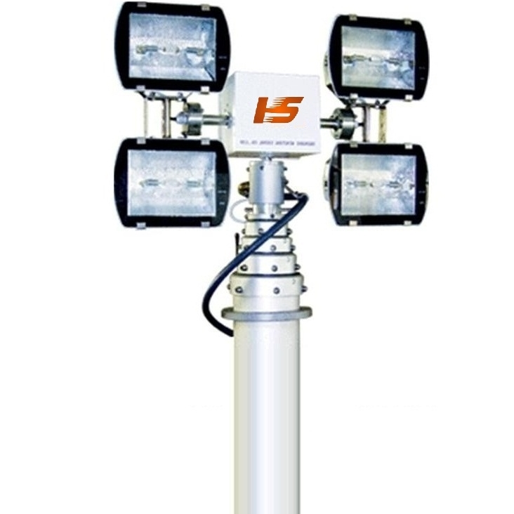 车载移动升降照明灯 移动降探照灯