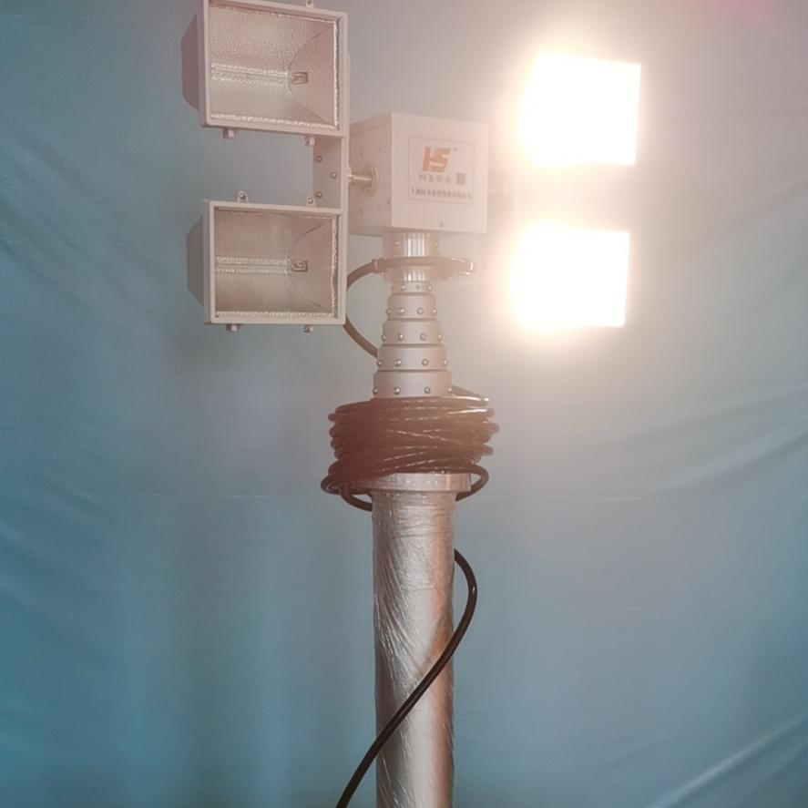 2.5米照明系统 大功率曲臂工作泛光灯