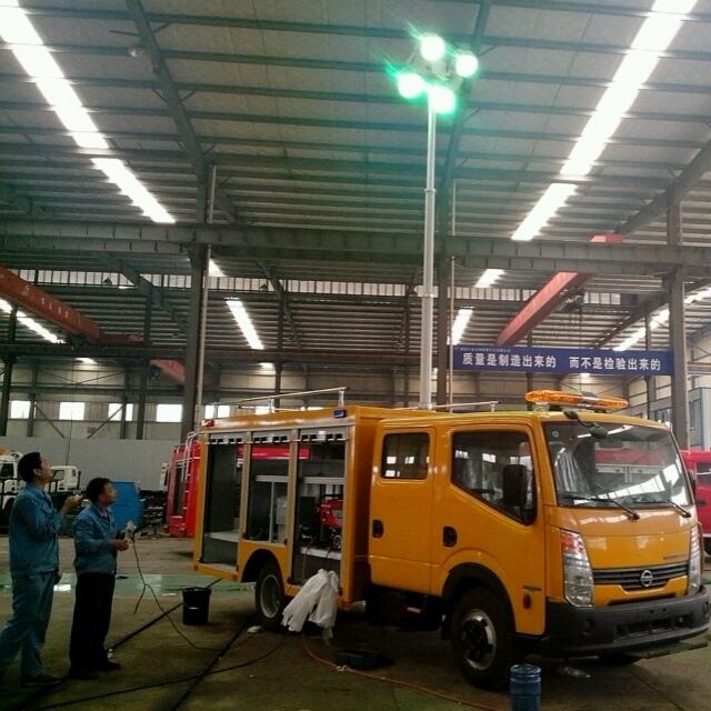 上海河圣 直立式升降灯 车载移动照明灯