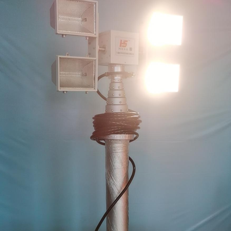 上海河圣 电源车升降照明灯 大功率探照灯