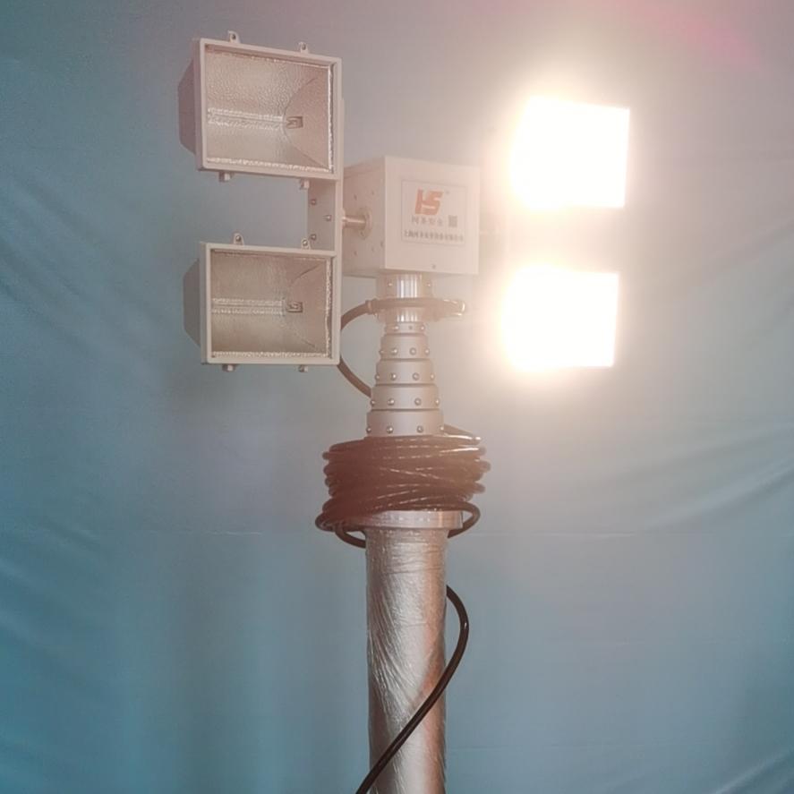 上海河圣 电源车升降照明灯 8灯头照明