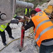 竖井开挖遇到岩石快速开拓劈裂机