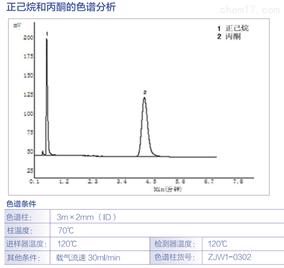 正已烷和丙酮的色谱分析
