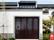 中式铝合金折叠车库门