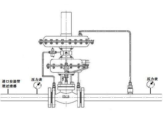 自力式微压调节阀结构图