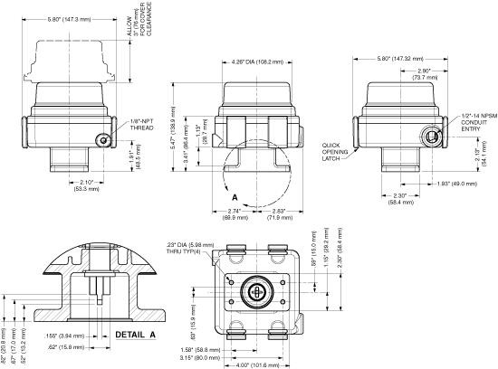 Trak-Lok 649 Dimensional Drawing