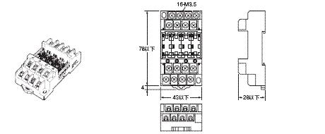 G3S4 外形尺寸 9 P6BF-4BND_Dim