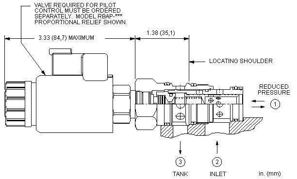PPFF8 : 先导控制式, 减压/溢流 主级 带钻入式阀芯阻尼孔 和 集成T-8A控制插孔