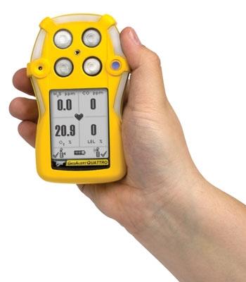 Gas Alert Quattro 四合一气体检测仪 两种供电方式,屏幕大