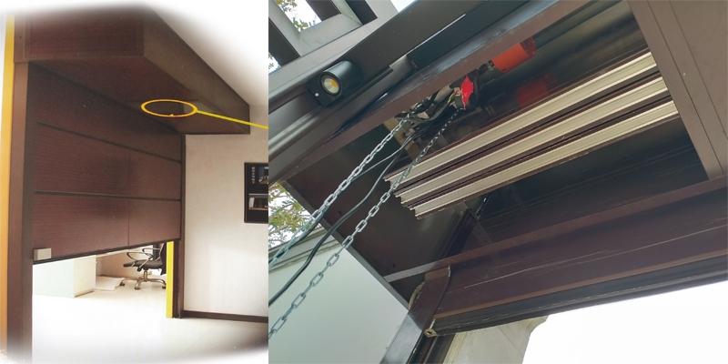 铝合金仿木排挂门运行方式